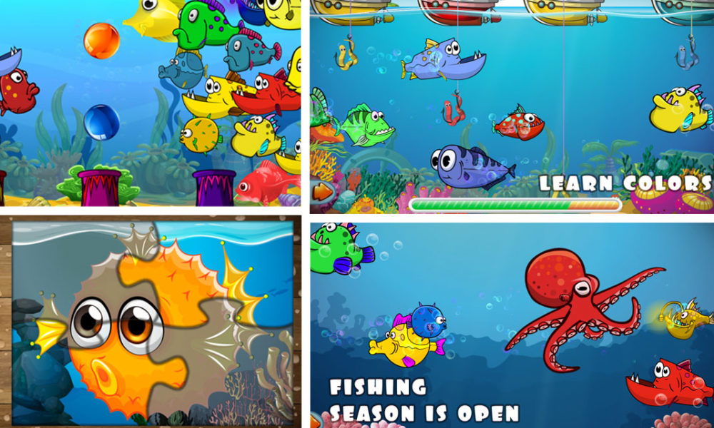 Toddler learning fishing games