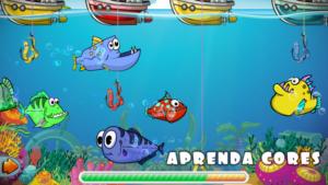 Jogo de pesca para crianças