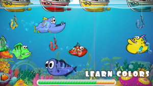 Toddler learning fishing games - learn color