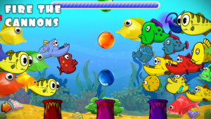 Toddler learning fishing games - underwater artillery