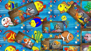 Toddler learning fishing games - many games in one big game