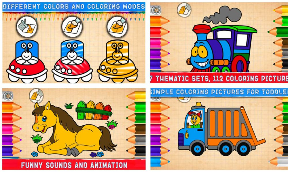 Toddler coloring games